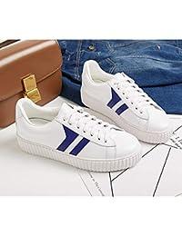 MagicXYY-sports shoes Zapatos Blancos de Plataforma Gruesa Zapatos de Plataforma Femeninos Zapatos Bajos Planos...