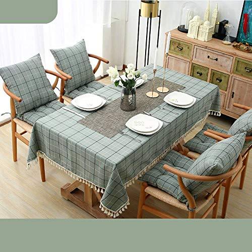 Bove Nappe résistant à l'eau, Coton et Lin Art Décoration nappes ménagères pour Tables rectangulaires-C-140x200Cm(55x79Pouces)