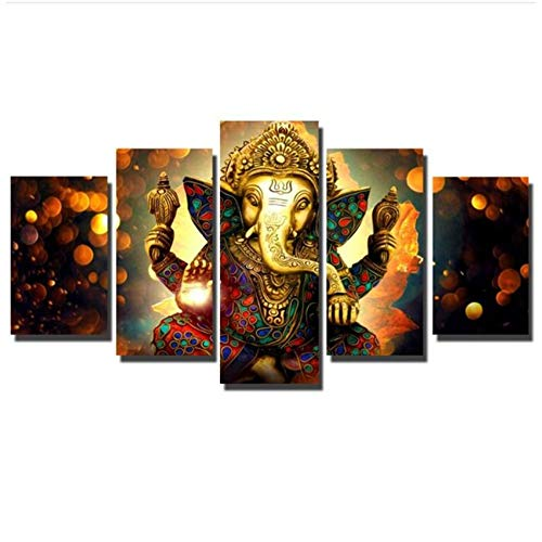 NIEMENGZHEN Druck auf Leinwand Leinwandbilder Druck auf Leinwand Hinduismus Modulare Bilder Wandkunst Leinwandbilder Für Wohnzimmer-40x60cmx2 40x80cmx2 40x100cm Kein Rahmen