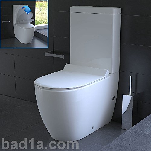 Design Stand WC mit Geberit Spülgarnitur, Keramik, Soft-Close