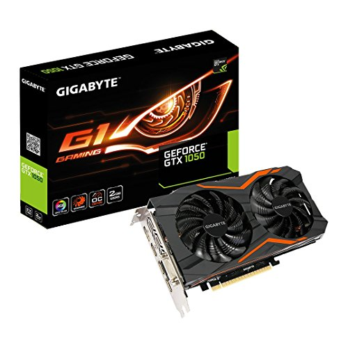 GIGABYTE GeForce GTX 1050 G1 GAMING 2GB GDDR5 3xHDMI 1xDP 1xDVI Express 3.0 WINDFORCE