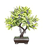 #10: Raajaoutlets Artificial home and Office table decorative plants Showpices (purple)