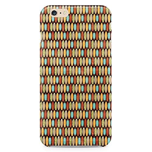 Queen Of Cases Coque pour Apple iPhone 6Plus/6S Plus-Planches de surf style rétro-Premium en plastique jaune
