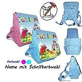 Ritter Kinderrucksack mit Name/Schriftartwahl/Kindergartenrucksack/Kindergarten/Kindergerechter Rucksack/Rucksack mit Name/Personalisierter Rucksack/Drache/Ritterburg