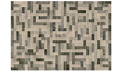 Tapis sitap moderne idéal pour Living et zone nuit Laguna 634016383Design géométrique beige cm.240x330 LAGUNA 63401-6383