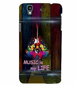 PrintVisa Music is my Life 3D Hard Polycarbonate Designer Back Case Cover for YU Yurekha