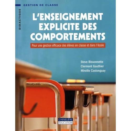 L'enseignement explicite des comportements : Pour une gestion efficace des élèves en classe et dans l'école