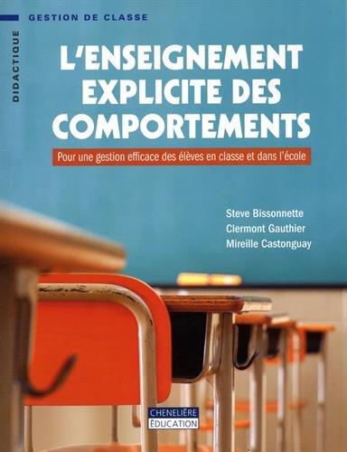 L'enseignement explicite des comportements : Pour une gestion efficace des élèves en classe et dans l'école par