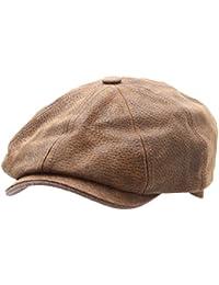 Stetson - Béret - casquette plate cuir homme ou femme Burney