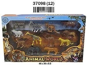 RAMA TRITTON- Figuras Animales Salvajes 12 Piezas EN Caja, Multicolor (37098)