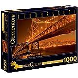 Clementoni - Puzzle de 1000 piezas, Fluorescent Collection, diseño San Francisco (391752)