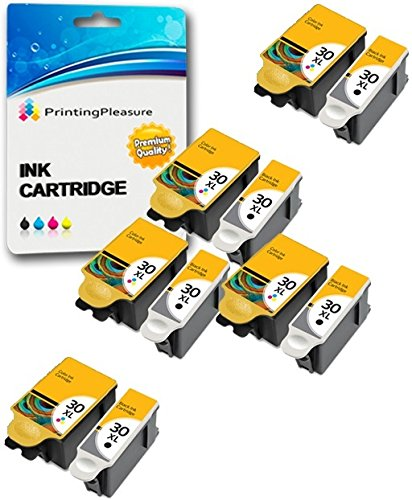 10 XL Druckerpatronen für Kodak ESP C100, C110, C115, C300, C310, C315, C330, C360, 1.2, 3.2, 3.2S, Office 2100, 2150, 2170 AIO, Hero 2.2, 3.1, 4.2, 5.1 | kompatibel zu Kodak 30B, 30CL - Kodak Drucker 10 Tinte