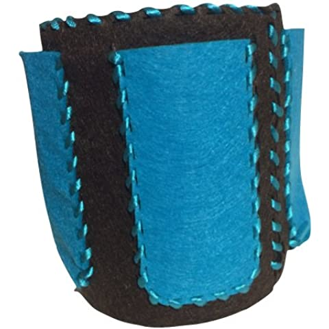 Petra S Kit creativo News a haf897957sb Set bricolage per borsa, Organizer Utensilo, feltro strappi per lattina, marrone scuro/turchese