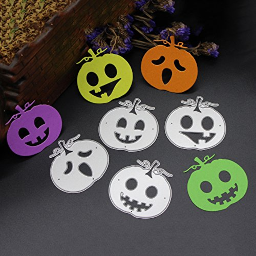 Moonbrid Halloween Metal Carbon Steel Cutting Die, DIY Scrapbook Craft Decor DIY Scrapbooking Handcraft Fotoalbum Papier Karten, Weihnachten Valentinstag Halloween Geschenke (Halloween Kürbis)
