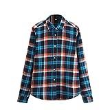 Damen Hemd Langarm Casual Plaids & Checks Shirts Work Office Bluse Tops Blouses Farbe #6 L