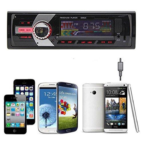 Tongshi Radio estéreo del coche en el tablero de MP3 receptor de entrada del reproductor de música FM USB SD