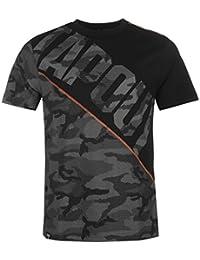 Tapout Herren Camouflage Panel T Shirt Kurzarm Rundhals Regular Fit Baumwolle