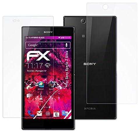 Sony Xperia Z Ultra Glasfolie - 1er Set atFoliX FX-Hybrid-Glass hartbeschichtete elastische 9H Kunststoffglas Folie - besser als Echtglas Panzerglas