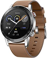 HONOR Magic Watch 2 (46mm, Flax Brown) 14-Days Battery, SpO2, BT Calling & Music Playback, AMOLED Touch Sc