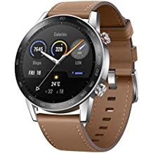 HONOR Magic Watch 2 (46mm, Flax Brown) 14-Days Battery, SpO2, BT Calling & Music Playback, AMOLED Touch Screen, Personalized Watch Faces, 15 Workout Modes, Sleep & HR Monitor, Smart Assistant