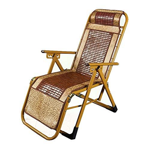 Gububi-HO Liegestuhl Sonnenliege Liege Bürostuhl Klappdeck Stühle Gartenbett Kopfstütze Schwerelosigkeit Langlebig Starke Strandliege (Farbe : Mehrfarbig, Größe : 48 * 69 * 115cm)