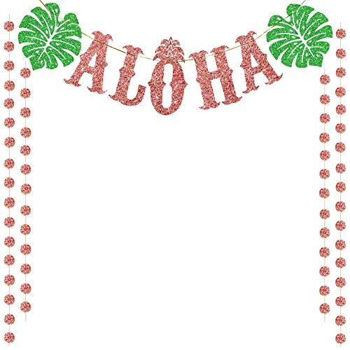 Libertry Turtle Leaf Aloha Banner Hawaii Party Dekoration Lieferungen Gefälligkeiten für Firmenfeiern Geburtstage