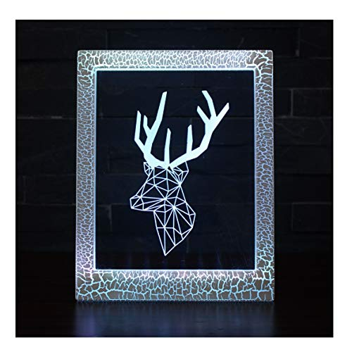 Magic Photo Frame Light, Stimmungslicht, kleine Tischlampe - 7 Farben Magic Light/Elk/Youth Nachttischlampe (Magic Photo Frame)