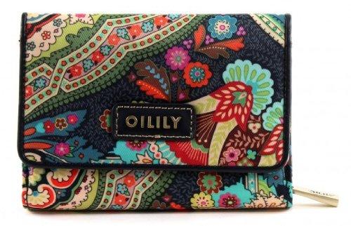 Oilily Geldbörse S Wallet Portemonnaie Winter Ovation in Indigo Biscuit oder Coffee Farbe:Indigo