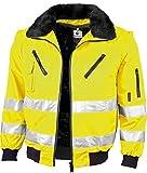 Qualitex Warnschutz Pilotenjacke gelb oder orange (5XL, warngelb)