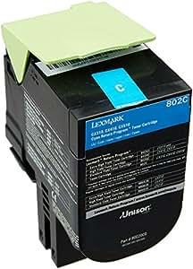 Lexmark 802C Cartouche de Toner Laser Cyan