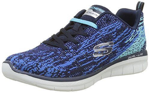 Skechers Damen Synergy 2.0-High Spirits Sneaker, Blau (Navy/Blue), 41 EU (Skechers Sneakers Running)