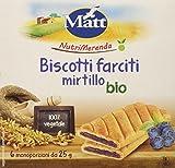 Matt Nutrimerenda Biscotti Farciti Mirtillo Bio - 1 Confezione da 6 Monoporzioni [150 gr]