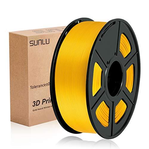 SUNLU PLA Plus Gold, filamento PLA Plus 1,75 mm, Precisione dimensionale con odore basso +/- 0,02 mm, Filamento per stampa 3D, bobina 2,2 LBS (1 KG) Oro Filamento per stampante 3D