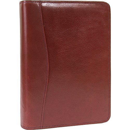 Scully Italian Leather Zip Weekly Organizer - Mahogany by Scully (Scully Zip)