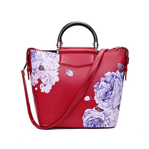 Stile cinese pittura Magnolia/Borsa grande/Peonia stampa moda borsa-A A