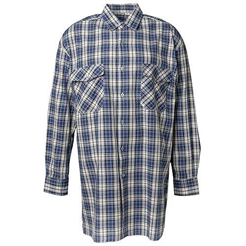 """Preisvergleich Produktbild Planam Flanell-Hemd """"2001"""" Größe 47/48, 3XL, blau kariert, 450047"""