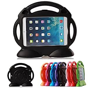 iPad Mini4 Kid Case, iPad Mini3 Kid Cover, DeeMall Thomas Multi Function Child/Shock Proof Kids Cover Case with Stand/Handle for Apple iPad Mini 1/2/3/4 Generation Tablet - Thomas Black