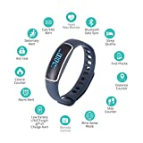 Fitness Tracker Watch – Waterproof IP67 Smart Bracelet - Wristband With Heart Rate Monitor, Blood Pressure Monitor - Bluetooth 4.0 Watch Pedometer with Step Counter/Calorie Tracker/Sleep Monitor/Call Alert for iPhone and Android Smart Phone