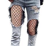 Bas résille,Jimma Femmes Fishnet Stockings bonneterie cuisse élastique haute Pantyhose collants