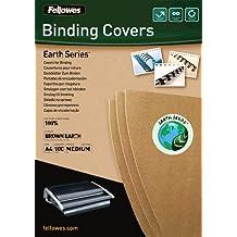 Fellowes 5361701 - Portadas para encuadernar de cartón reciclado, A4, marrón