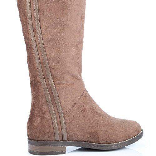 nbsp;nbsp;stiefel Weich Anzufassen Klassischen Benedicte Shoes Ideal Taupe zUq5ST5