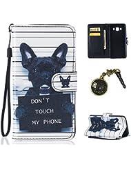"""PU Cuir Coque Strass Case Etui Coque étui de portefeuille protection Coque Case Cas Cuir Swag Pour (Samsung Galaxy J5 (2016) J510FN 5.2"""")+ Bouchons de poussière (5NY)"""
