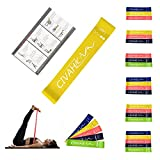 CIVAH Elastici di Resistenza Lattice Naturale Fascia di Resistenza Allenamento per Hysical Terapia Yoga Pilates Rehab Sport Fitness Cintura Yellow Set 1