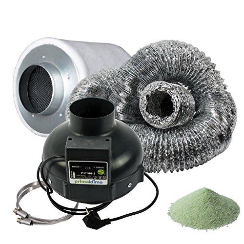 Filtro a carbone attivo prima klima Set Set di ventilazione con ventilatore tubo e tubo AKF Premium Kit di ventilazione per Grow Box Home Box Darkroom Hydros Hoot fertilizzante per Grow Room con Greenception