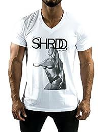 GYM AESTHETICS Herren Shrdd V-Neck Musclefit Larissa Reis' T-Shirt