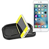 Self-adhesive rubber car mount for the dashboard / desk for Apple iPhone 6s Plus, black. smartphone holder mobile phone stand anti-slip mat - K-S-Trade (TM)