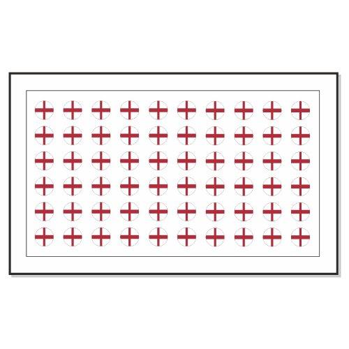60 Drapeau Angleterre Autocollants Tatouage Nail Art de transfert