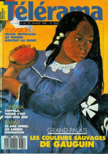 Télérama - n°2035 - 11/01/1989 - Grand Palais : les couleurs sauvages de Paul Gauguin