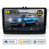 "Autoradio Android Neotone WRX-990A per VW/Skoda/Seat, navigatore con mappe europee, 9"", supporto DAB+, USB, Octa-Core, 4K Ultra HD Video, WLAN, Bluetooth (iOS e Android), MirrorLink, RDS"