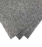 aysiboo - Bastelfilz (40 x 30 cm) - 4 mm dick, 3 Filzplatten - grau